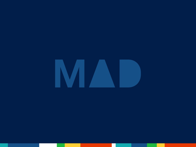 New Matthew Dimmett Creative Logo - Alternate type primary colors logo branding blue