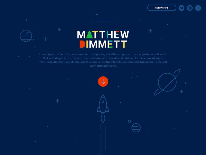 New Matthew Dimmett Creative Website primary colors flat design illustration space
