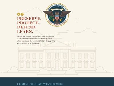 Game of the Presidents Website whitehouse usa united states owl muted colors website government