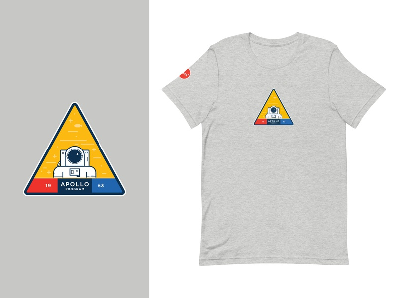 Nasa Apollo T-Shirt (Order Now!) apparel gray badge t-shirt apollo nasa