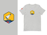 Nasa Mercury T-Shirt (Order Now!) mercury apparel gray badge nasa