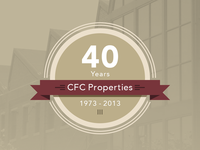 CFC Properties 40 Years Badge