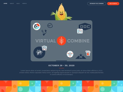 Virtual Combine Conference - Website website the combine rainbow flat illustration conference blue
