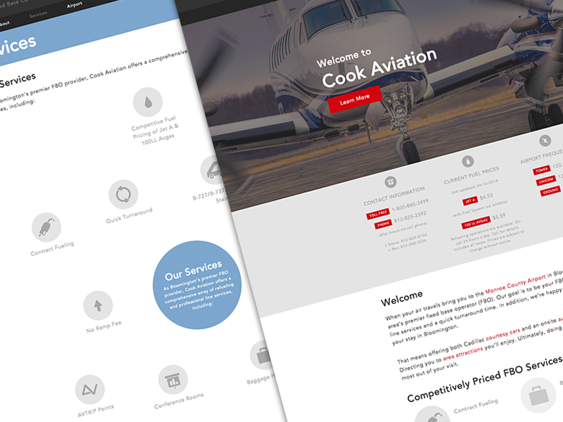 Dribbble cook aviation