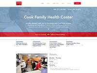 Cook family health center home