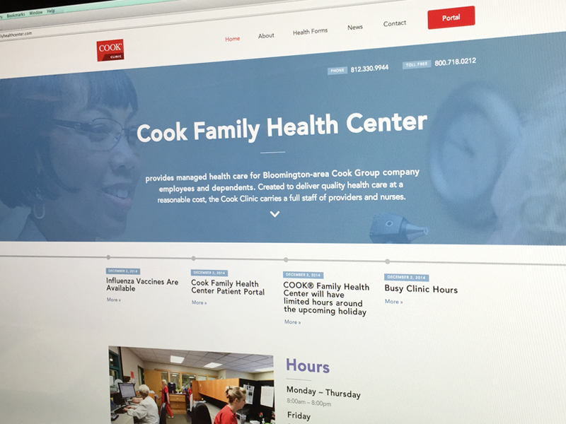 Cook Family Health Center Launched white flat clean avenir doctor health hospital