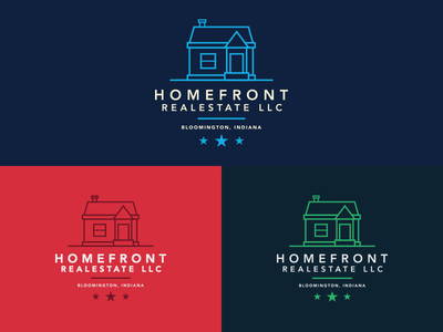 Unused Logos Homefront Real Estate Logos Set 1 logos real estate home house red green blue gotham
