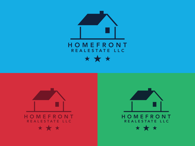 Unused Logos Homefront Real Estate Logos Set 2 logos real estate home house red green blue gotham