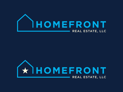 Final Logos Homefront Real Estate Logos real estate logos house home blue