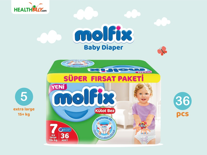 Molfix Baby Diaper banner vector logo facebook cover faccbook banner illustration illustrator photoshop graphic branding design graphicdesign