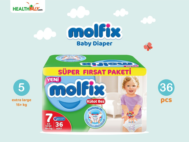 Molfix Baby Diaper banner vector minimal faccbook banner editing illustration illustrator graphic design graphicdesign design branding