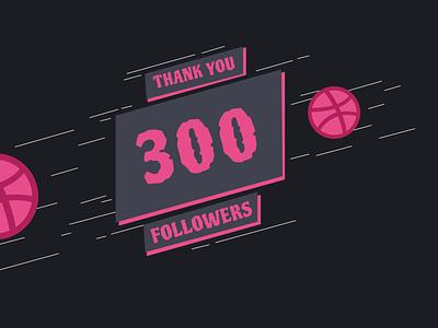 300 followers! minimal ux typography ui web clean app branding website cards followers thanks thankyou thank you 300 dribbble design follow me