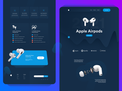 Product  Landing Page Design - Apple Airpods Pro ito team ito branding web abstract website clean ui minimalist dark black clean new animation landing page ipod products product landing page airpods landing page airpods apple
