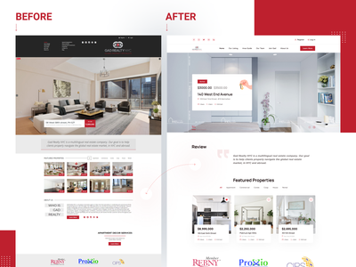 Real Estate Website Redesign- Gad Realty NYC home real estate apartment property landingpage realestate uxdesign uiux web ui design design website property management product design rental property branding hero image landing page app architecture