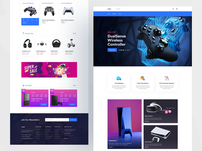 Gaming Product  Landing Page - E-commerce store web web page web site ecommercewebsite homepage landingpage shopping uiux landing page website webdesign website design graphic design minimal minimalist e-commerce websites minimalistic home page product