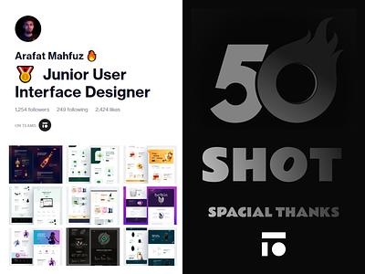50 Shot Achieve 3d graphic design web design landing website design branding logo ui illustration homepage minimal web landing page design website