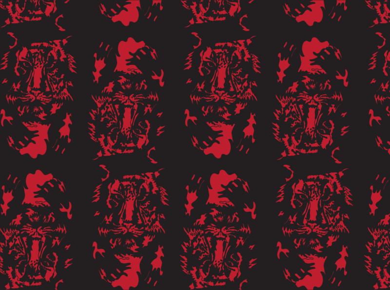 Circus coronus print pattern vector illustration design