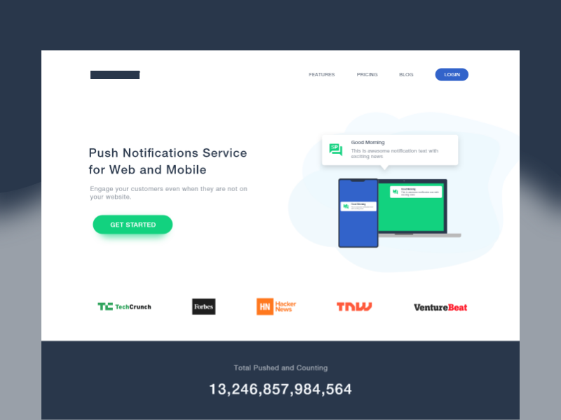 Push Notification Service by Umair™ on Dribbble