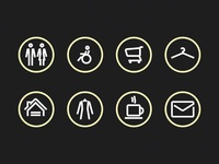 Mall sign icons