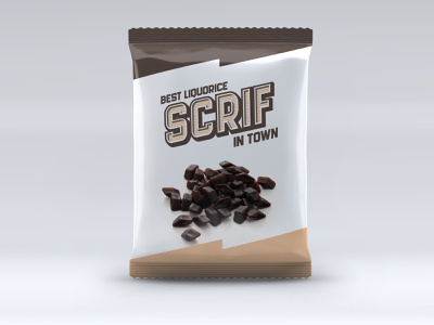 Scrif Liquorice Package logo design illustration liquorice package identity design