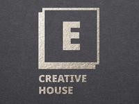 E Creative house logo