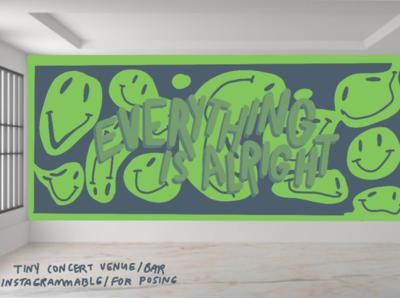 Hypothetical Mural: Concert Venue concert venue mural muralist illustration aesthetic acrylic paint acrylic art procreate illustrator artist art