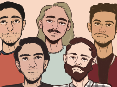 Commission: Group of guys portraits men boys guys portrait illustration style portrait art portrait procreate illustration aesthetic illustrator artist art