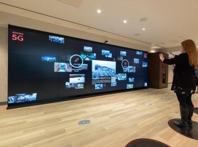 ROGERS 5G - Digital Interactive Display digital display gesture touchless ux