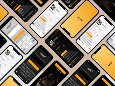 Audible App Concept illustrator minimal app ux vector ui design illustration