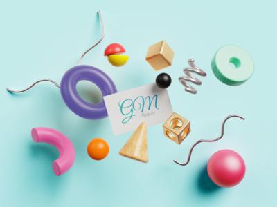 GM Beauty Logo Work clean modern typography branding illustrator logo illustration