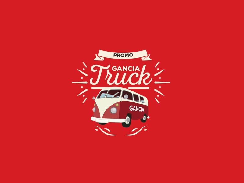 GANCIA TRUCK gancia gancia illustrator photoshop vector promotion design logo typography illustration branding