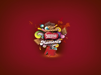nestledulzura nestle photoshop illustrator promotion vector design logo typography illustration branding