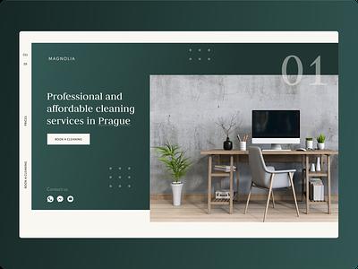 01. Cleaning service design website flat website design web ui ux photo minimal clean
