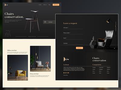 Furniture website photo flat website design web ux ui clean design minimalist logo branding landingpage landing design website yikes minimal elegant clean
