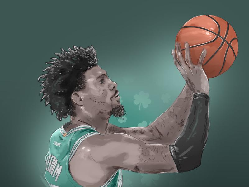 Marcus Smart nba playoffs nba illustration digitaldrawing aomc boston bleedgreen