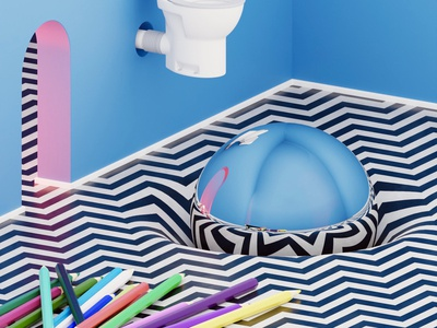 Untitled minimalism colorful concept design concept art bathroom design colors pattern form shape surrealism surreal renders modern minimal interior design interior design 3d architecture art