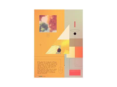 simplex geometric vintage retro poster minimal