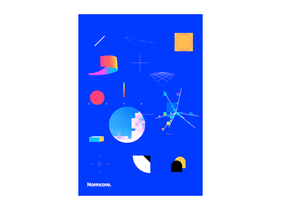 Normcore Poster minimal geometric abstract poster design
