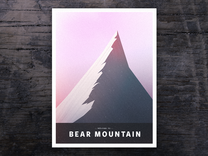 Bear Mountain 2 mountain morning texture sunrise snow ski snowboarding alpine wood