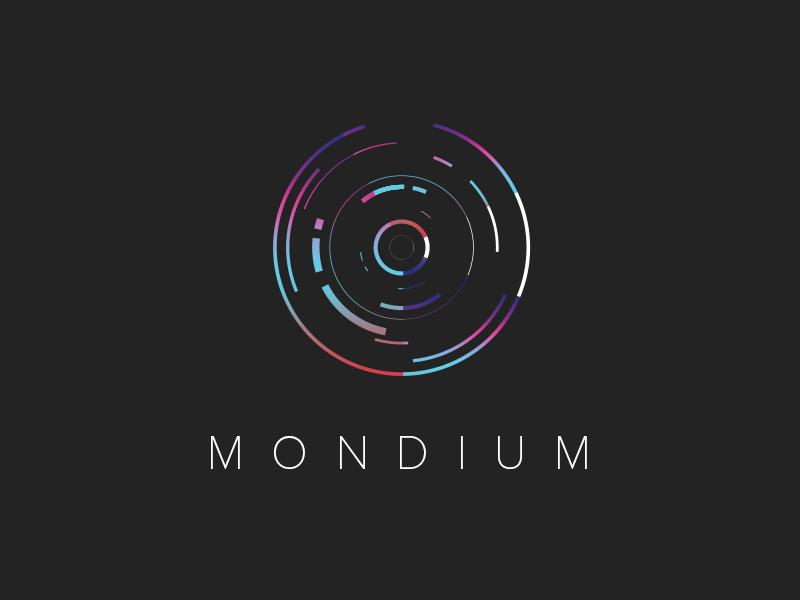 Mondium Identity  data logo brand mark identity visualize graph chart startup tech branding