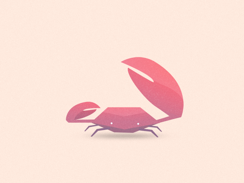 Rock Water Creature sand sealife crab water character 2d 3d low poly illustration