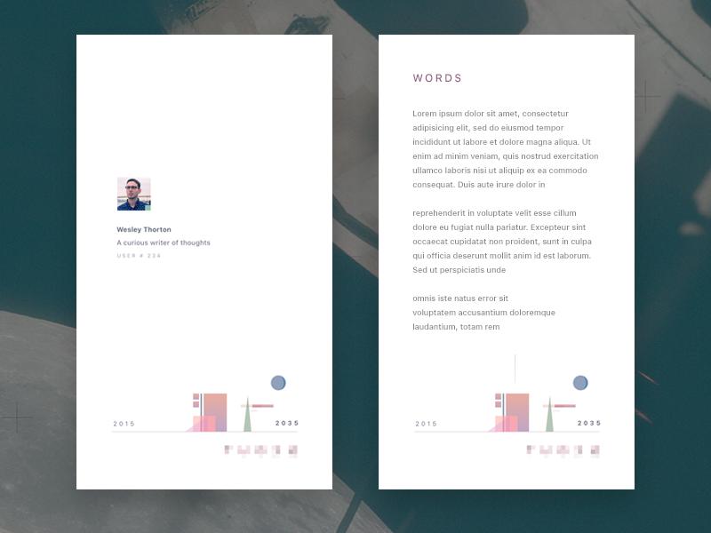 Minimal Profile mobile illustration soft clean app ux profile minmal ui