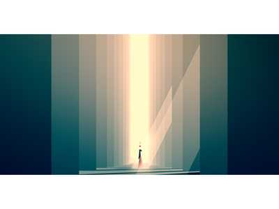||||||| ||||||| character shadow ray sunlight forest minimal illustration