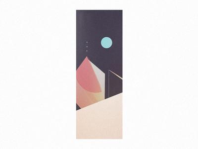 night tall vertical dark minimal geometric