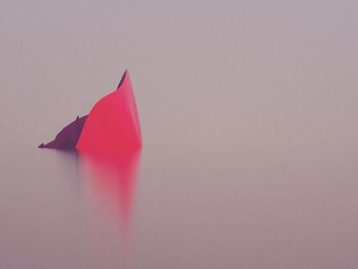 red reflection art minimal octane 3d vr