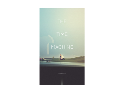 Time Machine title minimal 2d cover illustration cover book