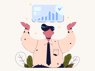 Closing working officer ui web vector illustrator illustration art design characterdesign 2d character