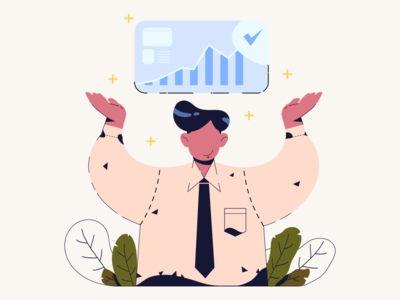 Closing working officer ui web vector illustrator illustration art design characterdesign 2d character