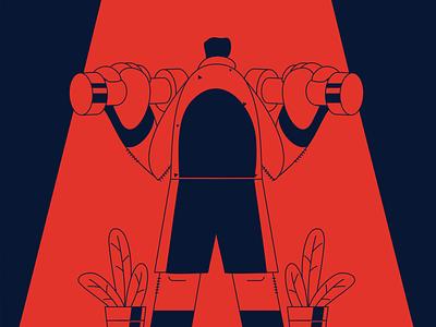 Balance your life #exercise gym flyer sport design branding ux ui vector illustration illustrator art characterdesign 2d character