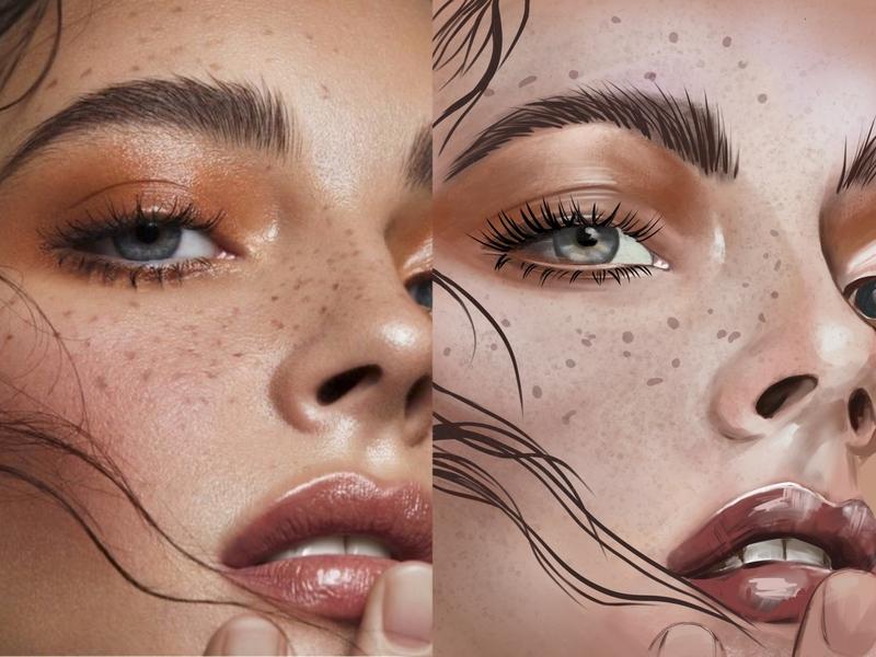 Portrait girl procreate illustration art portrait